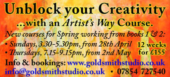 Unblock your creativity at an Oxford Artists Way course this Spring