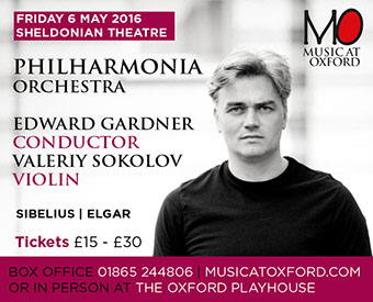 Music at Oxford presents Philharmonia Orchestra, Friday 6th May at the Sheldonian Theatre
