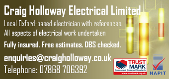 Craig Holloway Electrical Limited. All aspects of electrical work undertaken
