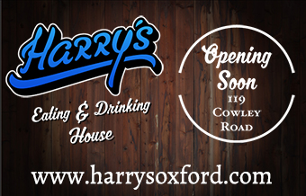 Harry's Oxford, Eating & Drinking House, opening soon, 119 Cowley Road