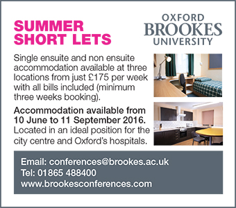 Oxford Brookes Summer Short Lets Accommodation available