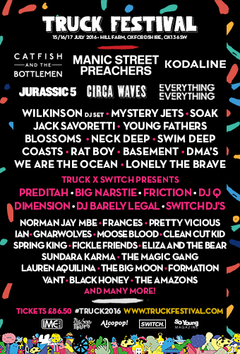 Truck Festival, Hill Farm, 15-17 July 2016: Manic Street Preachers, Kodaline, Catfish and the Bottlemen