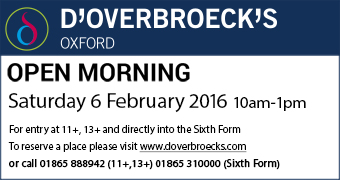 d'overbroeck's College Open Morning, Saturday 6 February 2016 10am-1pm