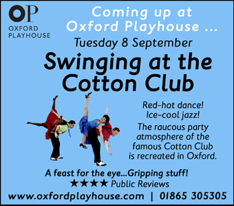 The Oxford Playhouse presents Swinging at the Cotton Club, Tuesday 8th September