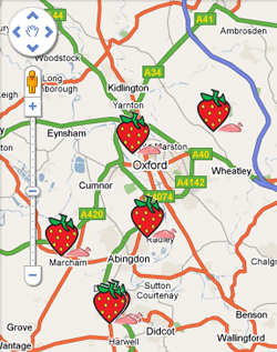 Daily Info's Map of Oxfordshire Pick Your Own