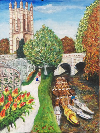 Painting of punts