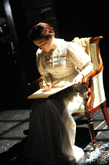 Kristin Atherton as Mary Shelley. Photo by Robert Day.