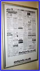 Daily Info display board: beech. Click for big picture!