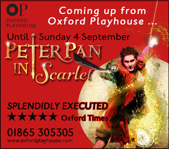 Oxford Playhouse presents Peter Pan in Scarlet, until Sunday 4th September