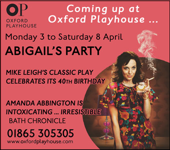 Abigail's Party at the Oxford Playhouse 3 - 8 April