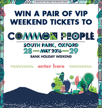 Win a pair of VIP Weekend tickets to Common People festival, 28 & 29 May 2016