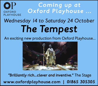 Oxford Playhouse presents The Tempest, 14-24 October