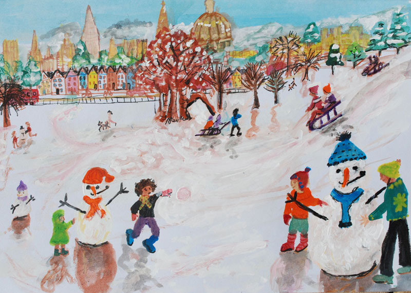 Snowballs in South Park by Ali Clements, 2010