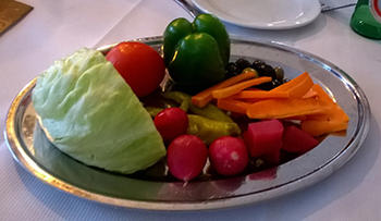 Photo of plate of veg at Al-Shami